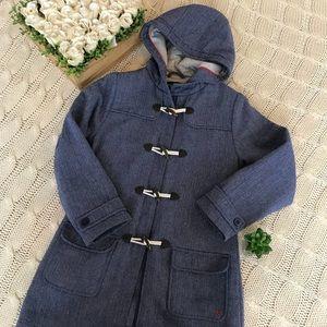 {Nautica} Toggle Hooded Herringbone Coat Sz 10